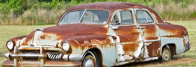 rust in a car